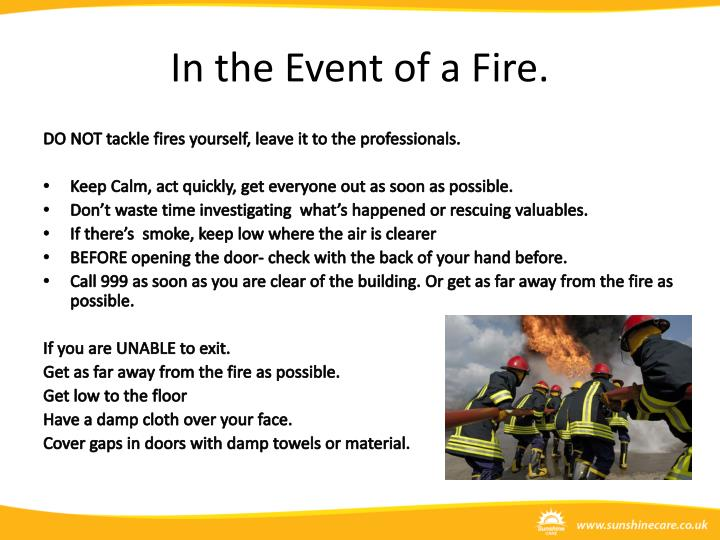 In the Event of a Fire.