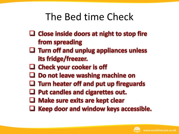 The Bed time Check
