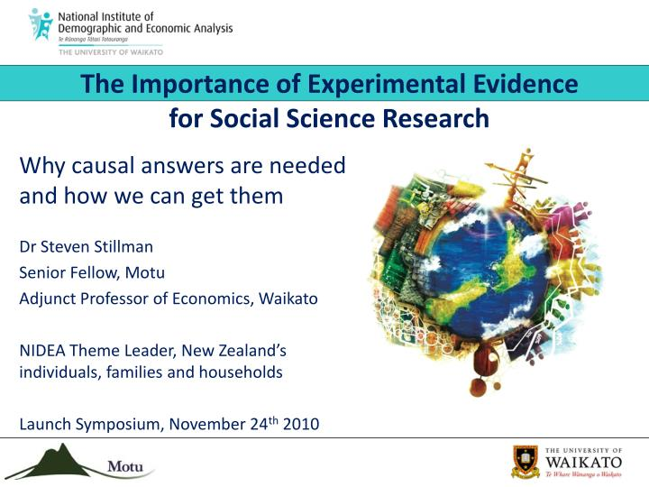 the importance of experimental evidence for social science research n.
