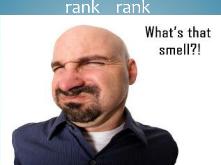 rank    rank