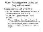 flussi passeggeri sul valico del frejus moncenisio