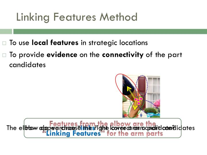 Linking features method