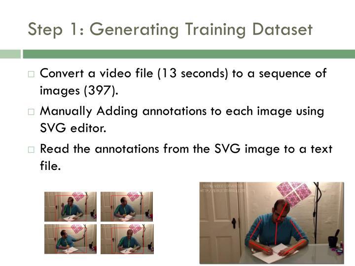Step 1: Generating Training Dataset