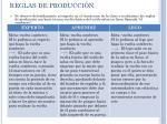 reglas de producci n