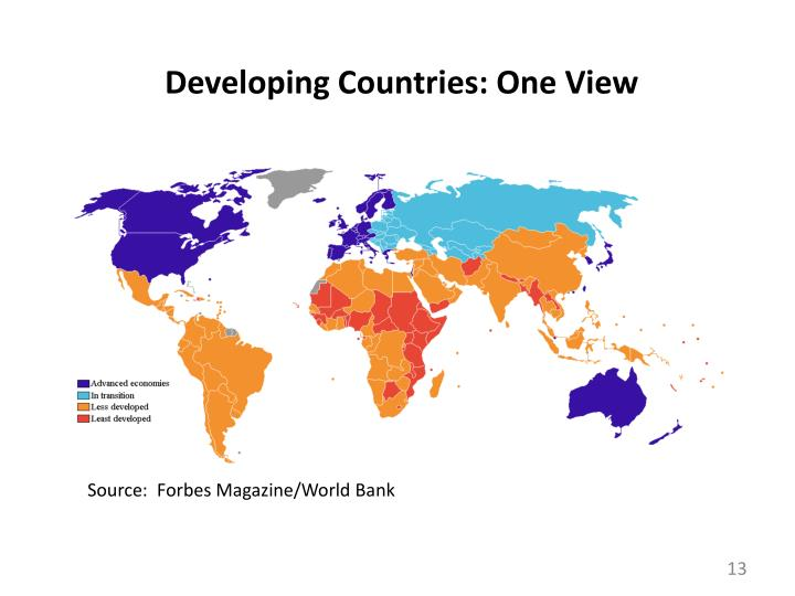 Developing Countries: One View