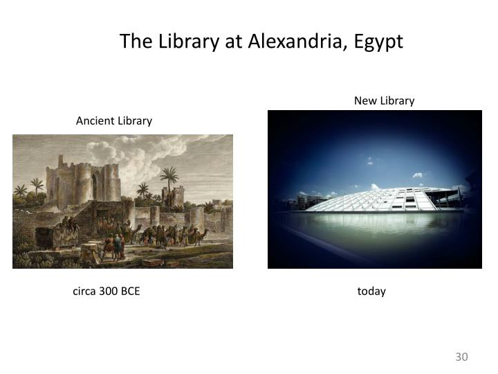 The Library at Alexandria, Egypt