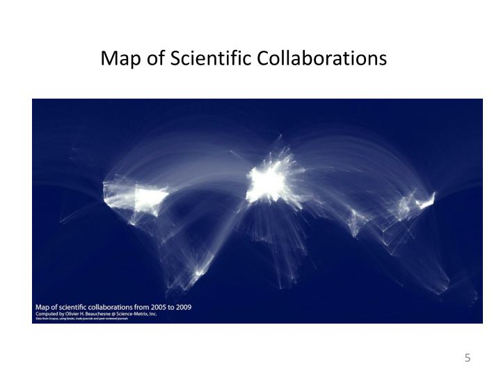 Map of Scientific Collaborations