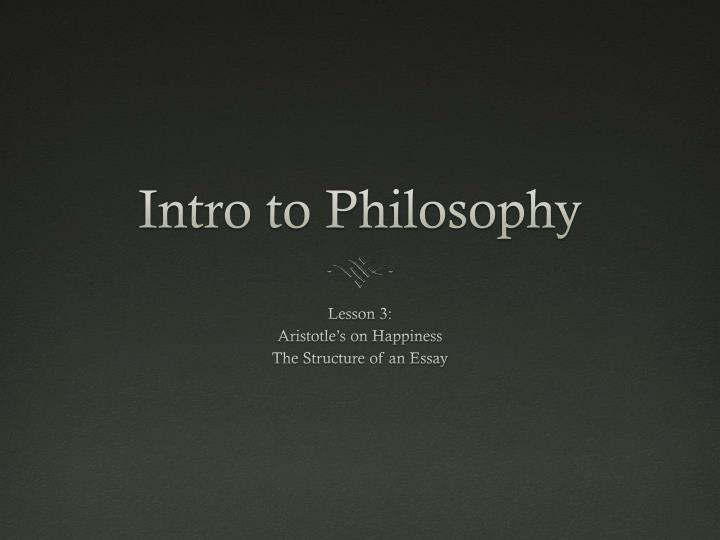 intro to philosophy n.