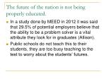 the future of the nation is not being properly educated