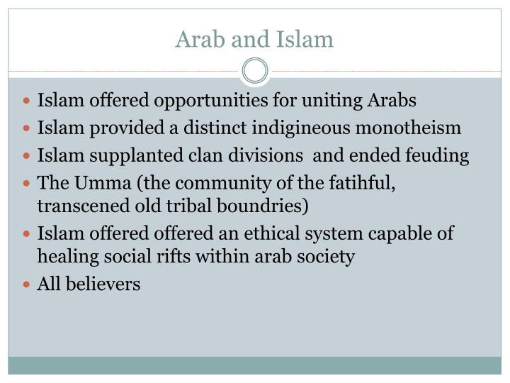 Arab and Islam