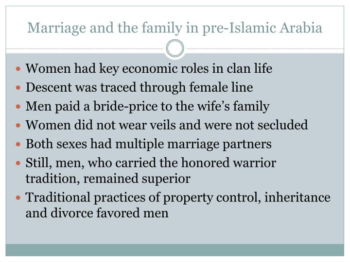 Marriage and the family in pre-Islamic Arabia
