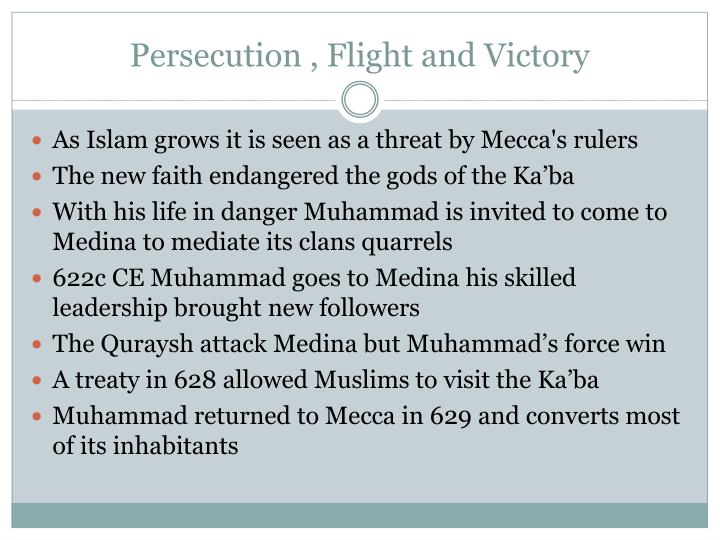 Persecution , Flight and Victory