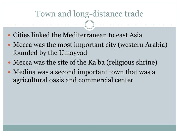 Town and long-distance trade