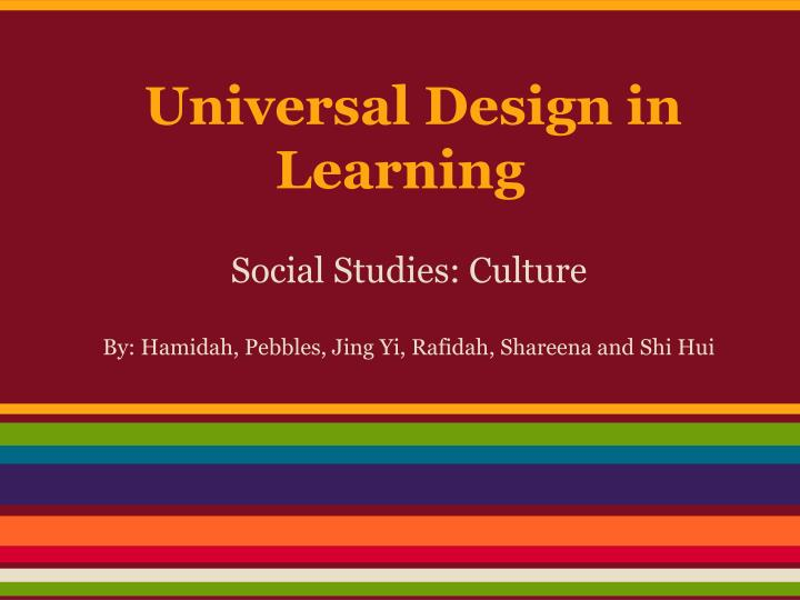 universal design in learning n.