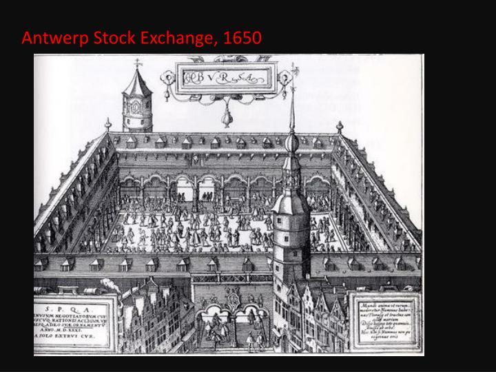Antwerp Stock Exchange, 1650