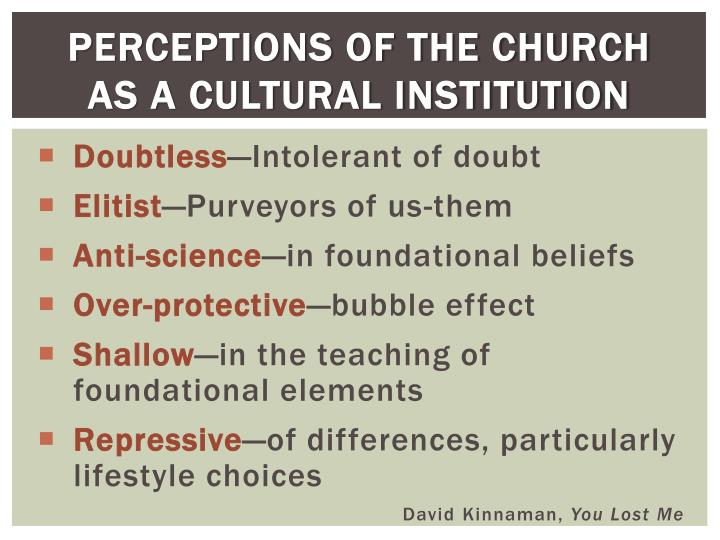 Perceptions of the Church