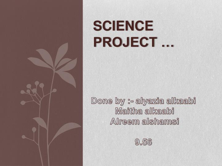 science project n.