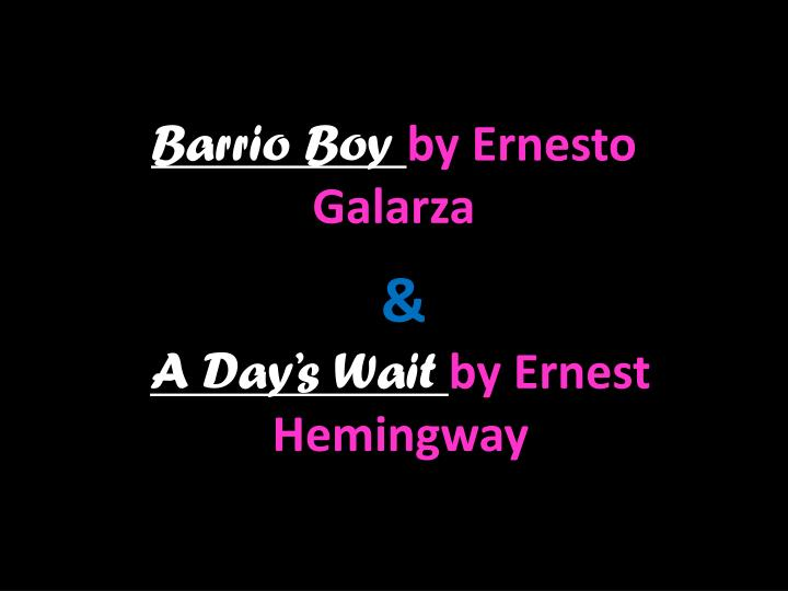 ernesto galarza barrio boy essay Barrio boy is the remarkable story of one boy's journey from a mexican village so small its main street didn't have a name, to thebarrio of sacramento, california, bustling and thriving in the.