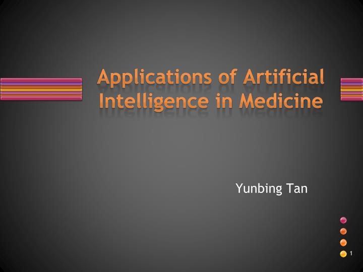 applications of artificial intelligence in medicine n.
