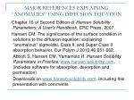 major references explaining anomalies using diffusion equation