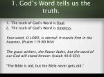 1 god s word tells us the truth2