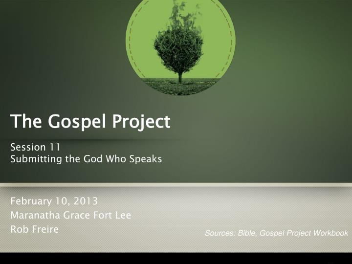 the gospel project n.