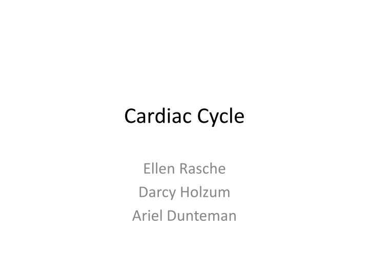 cardiac cycle n.