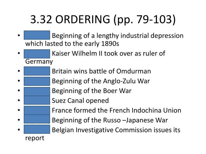 3.32 ORDERING (pp. 79-103)