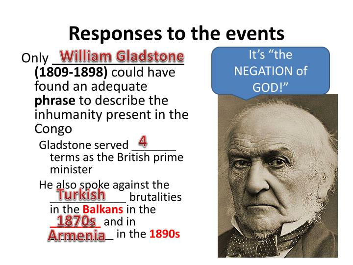 Responses to the events