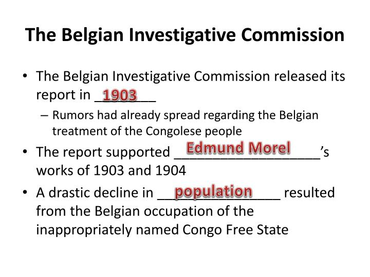 The Belgian Investigative Commission