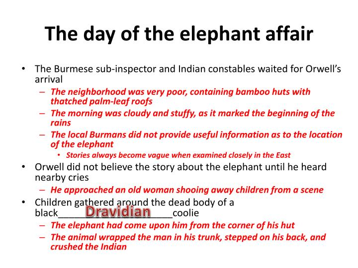The day of the elephant affair