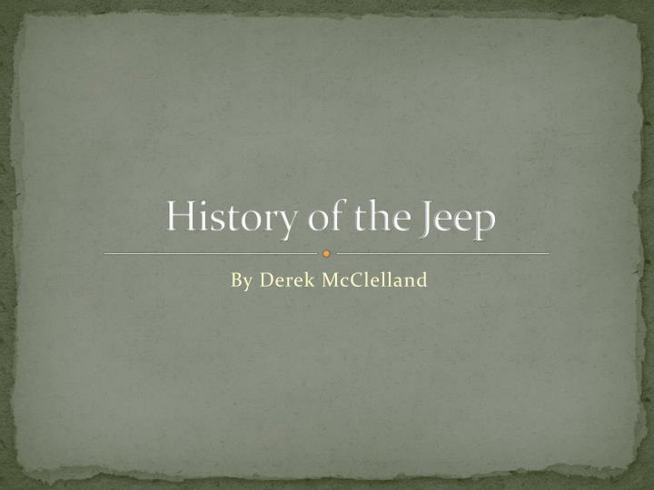 history of the jeep n.