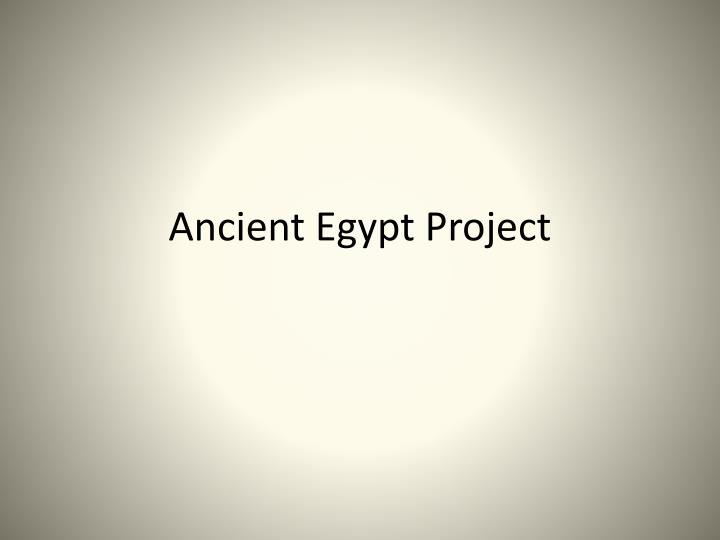 ancient egypt project n.