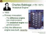 charles babbage 1791 1871 analytical engine