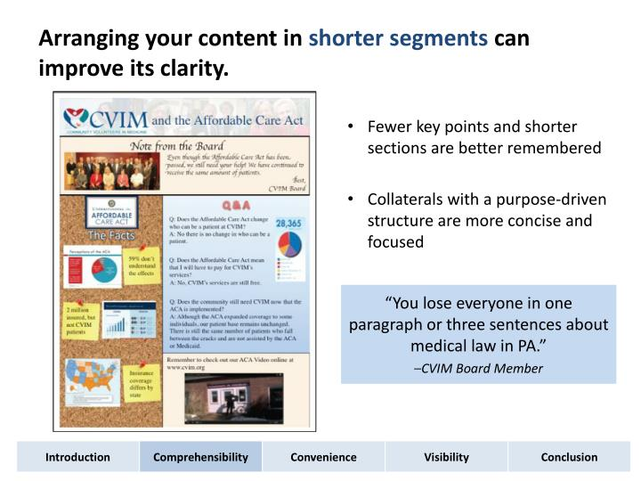 Arranging your content in