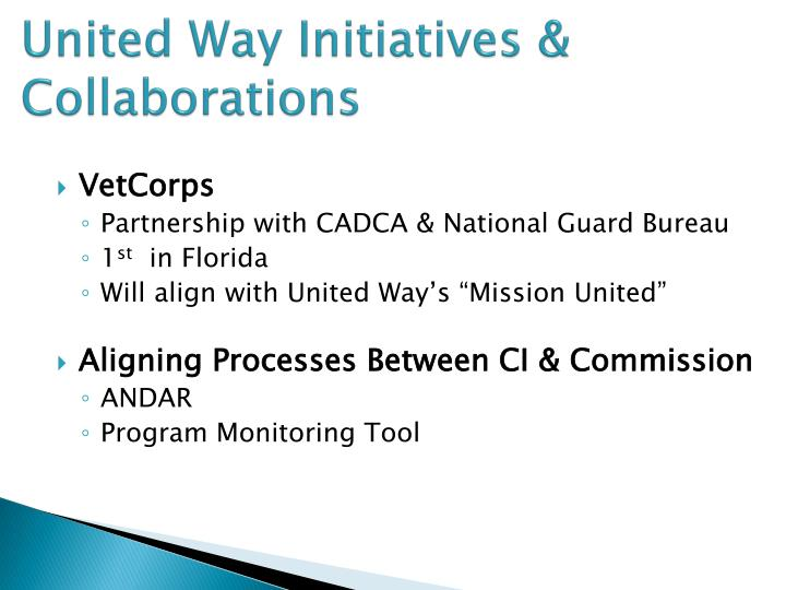 United Way Initiatives & Collaborations