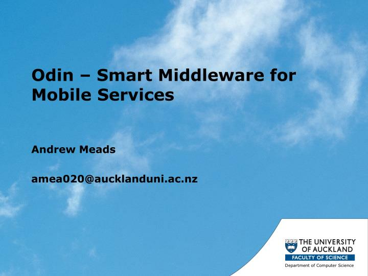 odin smart middleware for mobile services n.