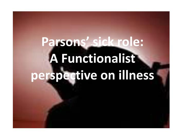 parsons sick role a functionalist perspective on illness n.