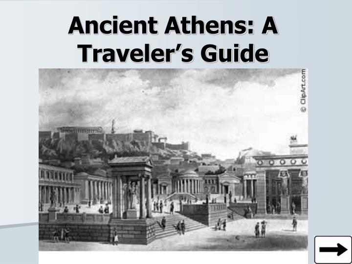 ancient athens a traveler s guide n.