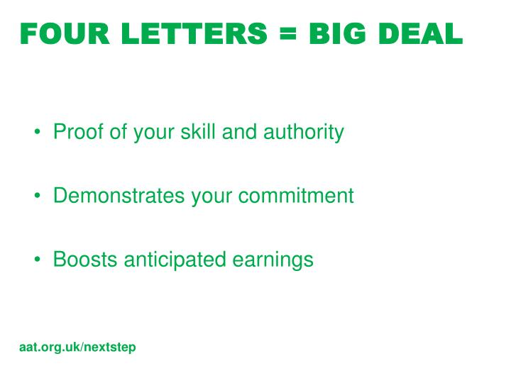 Ppt aat full membership whats in it for you powerpoint four letters big deal spiritdancerdesigns Choice Image