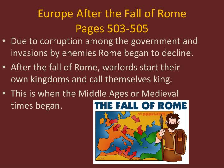 Europe After the Fall of Rome