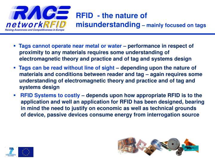 RFID  - the nature of misunderstanding