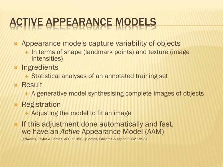 Active Appearance Models