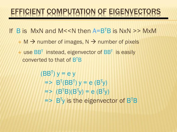 Efficient Computation of Eigenvectors
