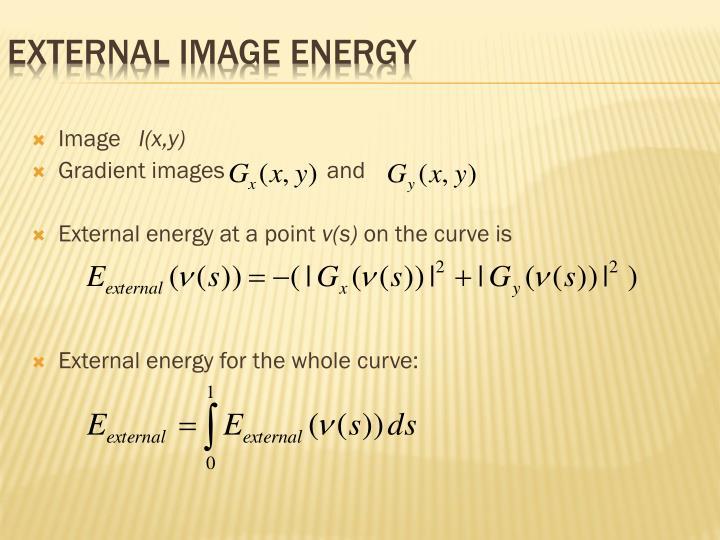 External image energy