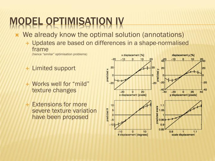 Model optimisation IV