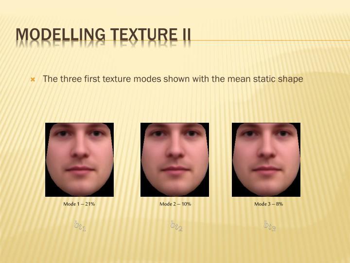 Modelling Texture II