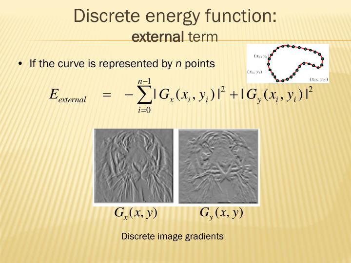 Discrete energy function: