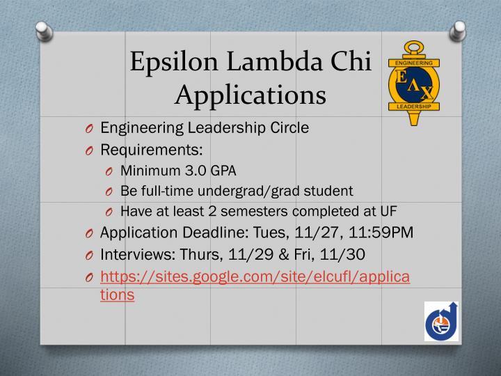 Epsilon Lambda Chi
