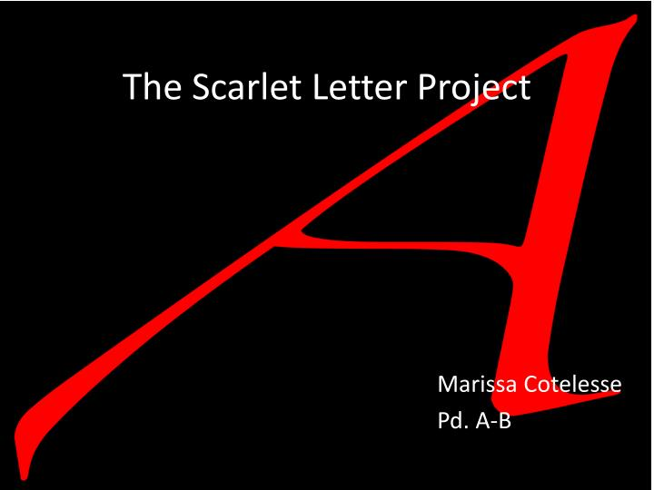 the scarlet letter project n.